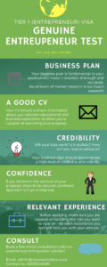 Tier 1 Genuine Entrepreneur infograph